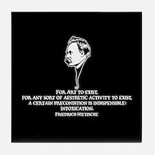 Nietzsche -Art II Tile Coaster