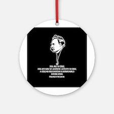 Nietzsche -Art II Ornament (Round)