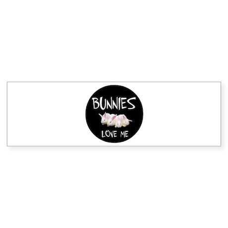 I LOVE BUNNIES Sticker (Bumper)