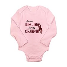Wear Burgundy - Grandma Long Sleeve Infant Bodysui