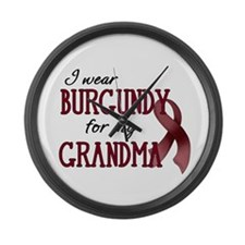Wear Burgundy - Grandma Large Wall Clock