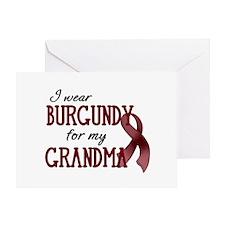 Wear Burgundy - Grandma Greeting Card