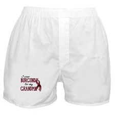 Wear Burgundy - Grandma Boxer Shorts