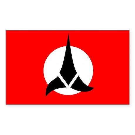 Klingon Flag Sticker (Rectangle)