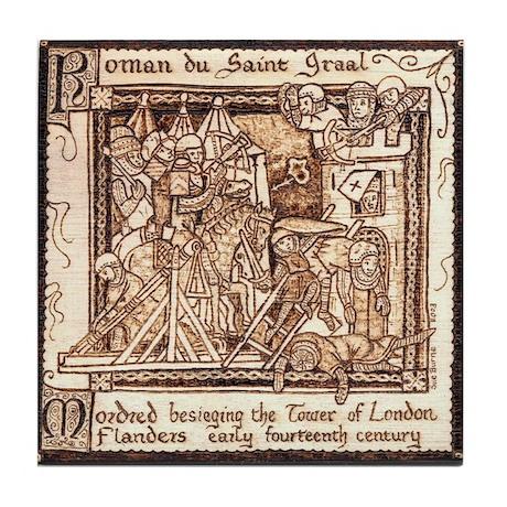 Arthurian Legend Tile Coaster