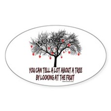 Not So Sacred Fruit Oval Decal