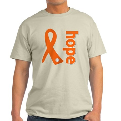 Leukemia Hope Ribbon Light T-Shirt