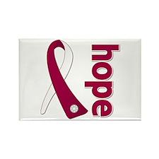 Hope Head Neck Cancer Rectangle Magnet