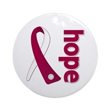 Hope Head Neck Cancer Ornament (Round)