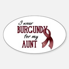 Wear Burgundy - Aunt Sticker (Oval)