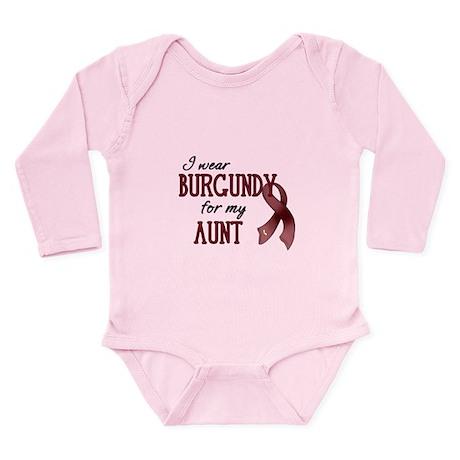 Wear Burgundy - Aunt Long Sleeve Infant Bodysuit