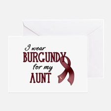 Wear Burgundy - Aunt Greeting Card
