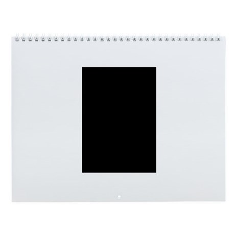 Black Great Dane Profile Wall Calendar