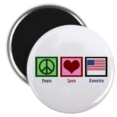 Peace Love America Magnet