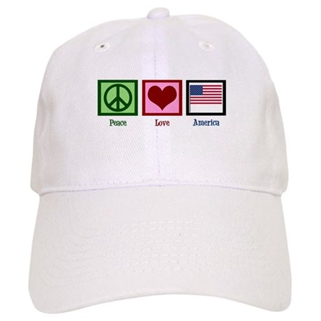 Peace Love America Cap
