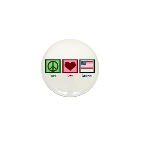 Peace Love America Mini Button