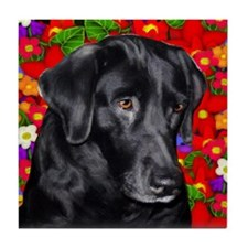 LABRADOR RETRIEVER DOG GARDEN Tile Coaster