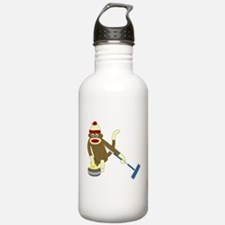Sock Monkey Olympic Curling Water Bottle