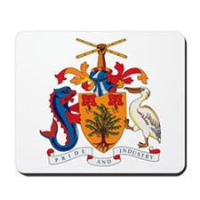 Barbados Coat of Arms Mousepad