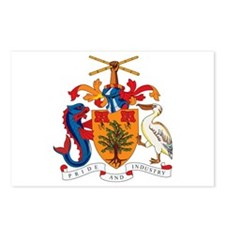 Barbados Coat of Arms Postcards (Package of 8)