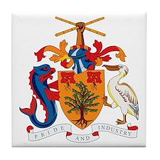 Barbados Coat of Arms Tile Coaster