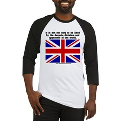 Not Our Duty Great Britain Baseball Jersey