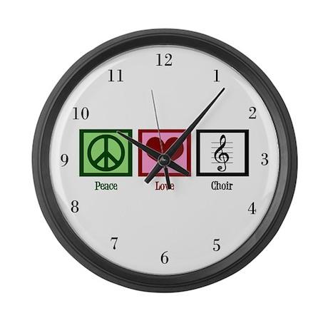 Peace Love Choir Large Wall Clock