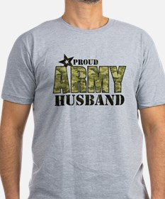 Camo Proud Army Husband Men's Fitted T-Shirt (