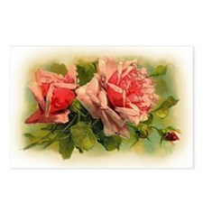 Pink Roses Postcards (Package of 8)