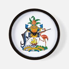 Bahamas Coat of Arms Wall Clock