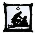 Masonic Friend to Friend Throw Pillow