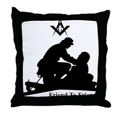 Masonic Friend to Friend Throw Pillow