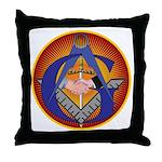 Masonic Intertwined Throw Pillow