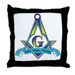 Masonic Faith, Hope, Charity Throw Pillow