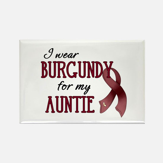 Wear Burgundy - Auntie Rectangle Magnet