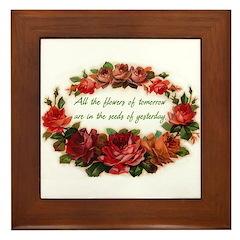 Tomorrow's Flowers Framed Tile