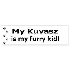 Kusvasz Furry Kid Bumper Bumper Sticker