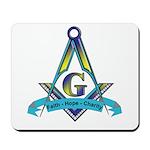 Masonic Faith, Hope, Charity Mousepad