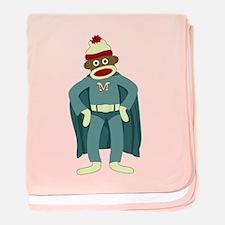 Sock Monkey Superhero Infant Blanket