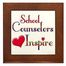 Cute Counselor Framed Tile