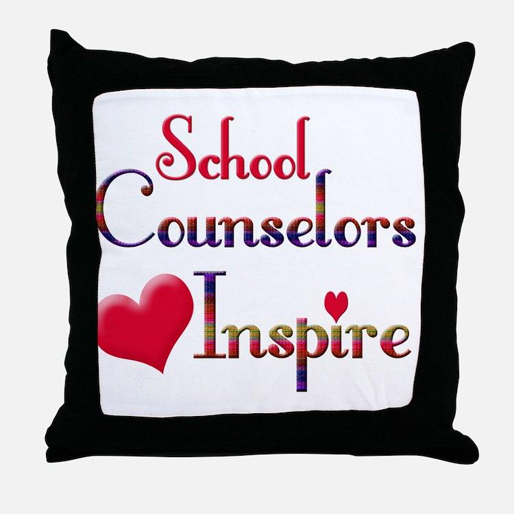 Cute School counselor Throw Pillow
