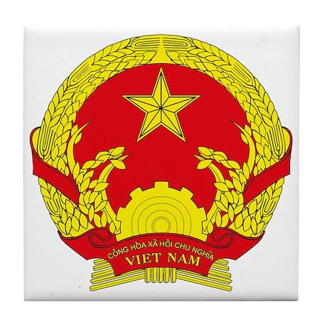 Vietnam Coat of Arms Tile Coaster