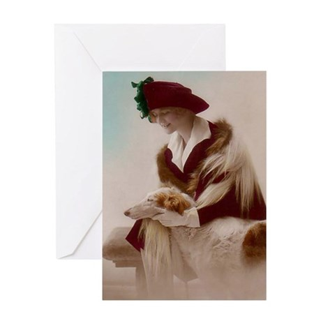 Borzoi Love Greeting Card