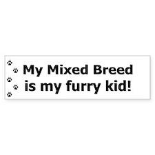 Mixed Breed Furry Kid Bumper Bumper Sticker