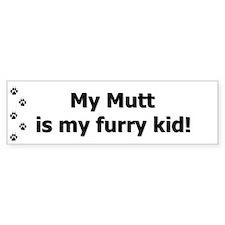 Mutt Furry Kid Bumper Bumper Sticker