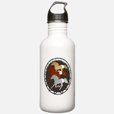Sheild and Appy Horses Water Bottle