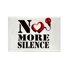 No More Silence Rectangle Magnet (10 pack)