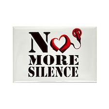 No More Silence Rectangle Magnet