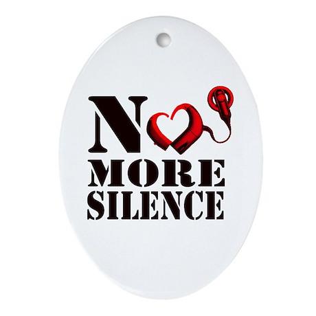 No More Silence Ornament (Oval)