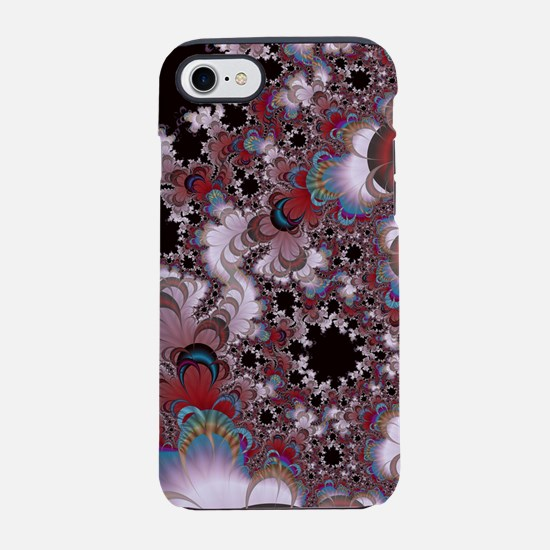 Strawberry Cream Moons Fractal iPhone 7 Tough Case